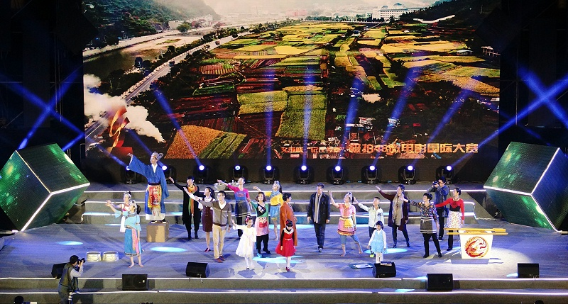 原创作品《故乡的枫树林》在央视微电影大赛开幕式上表演