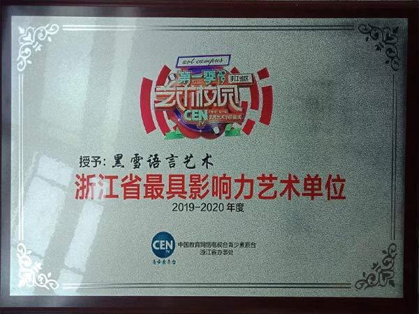 浙江省最具影响力艺术单位
